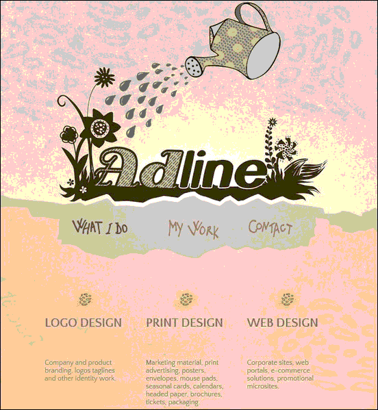 Adline - Website design using drawings and illustration