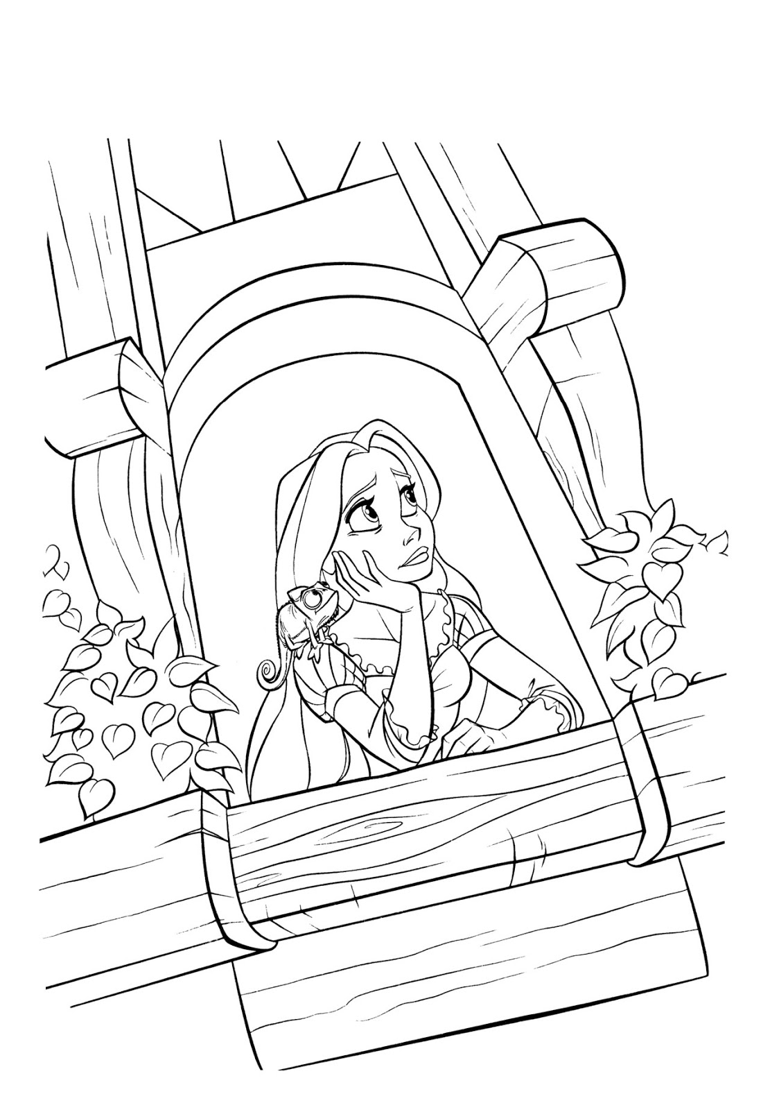 tangled rapunzel free coloring pages