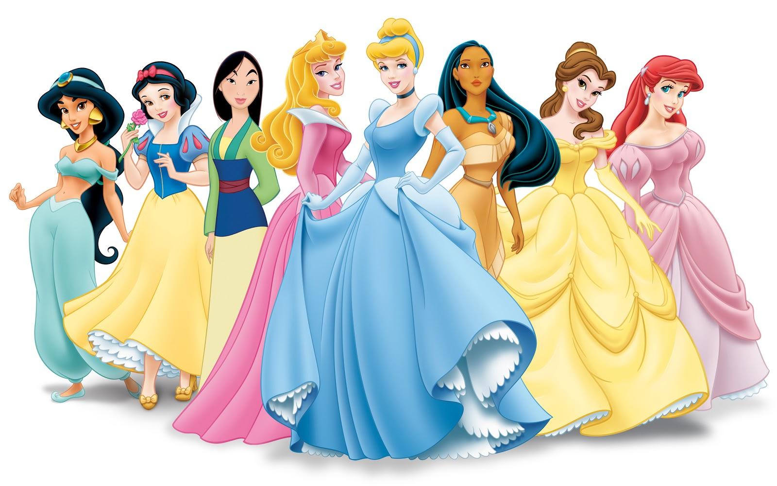 Disney Princesses Valentine Card Happy Love Valentine Princess