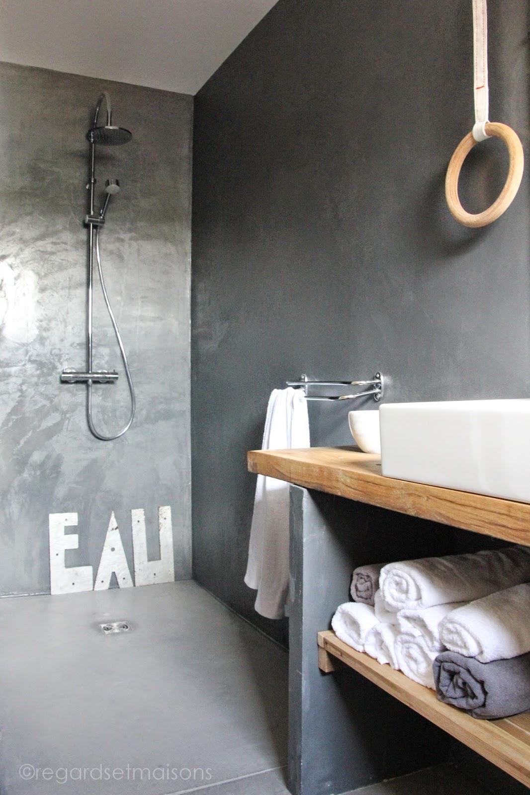 Nouvelle Salle De Bain Ma Bimbo : Ma nouvelle salle de bain b?ton et ...