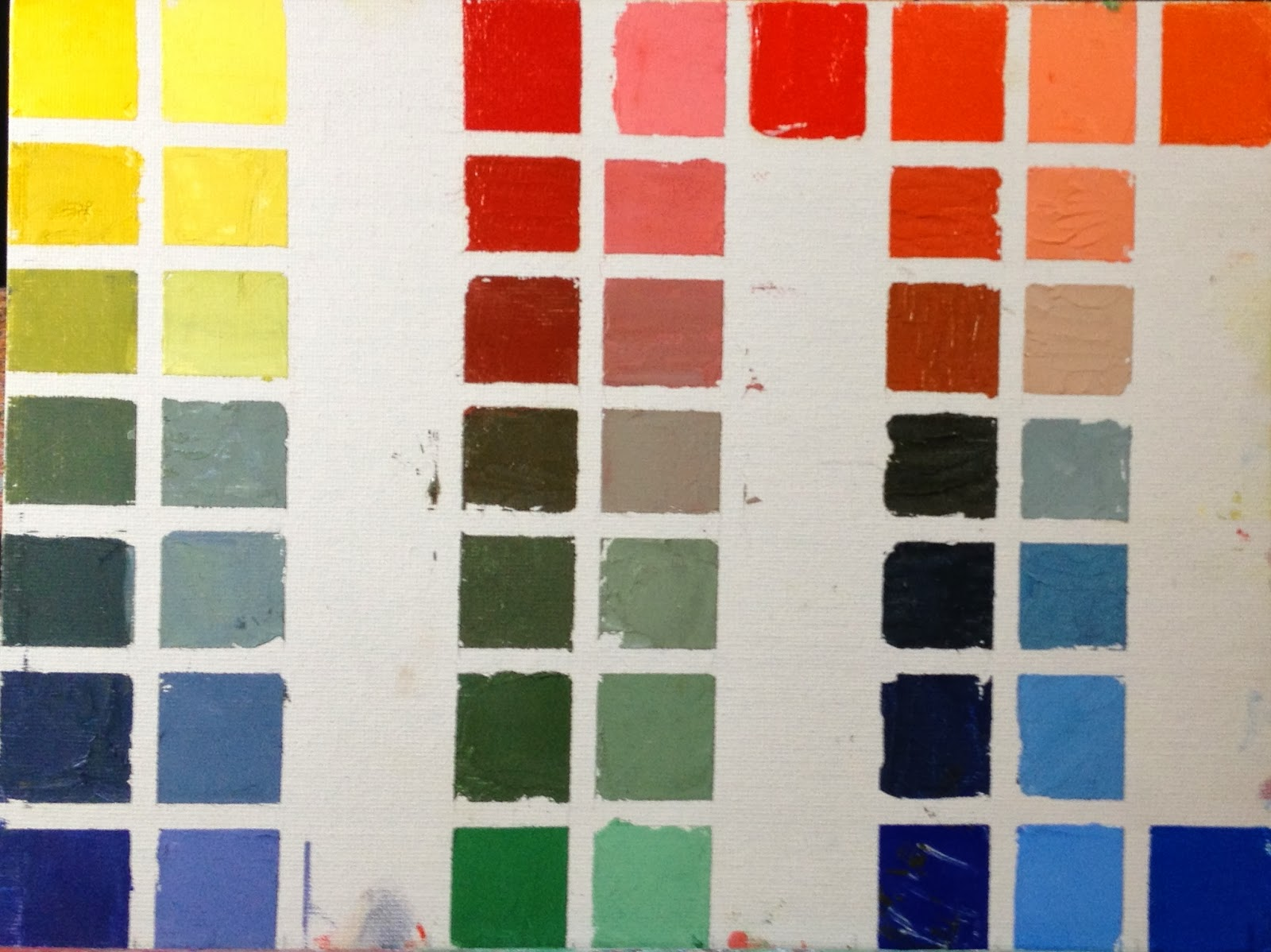 carol josefiak painting a day 5 color mixing complementary colors. Black Bedroom Furniture Sets. Home Design Ideas