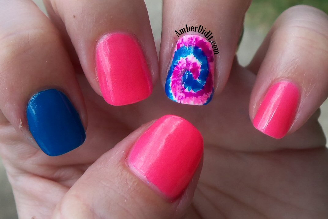 Amber Did It Tie Dye Accent Nails