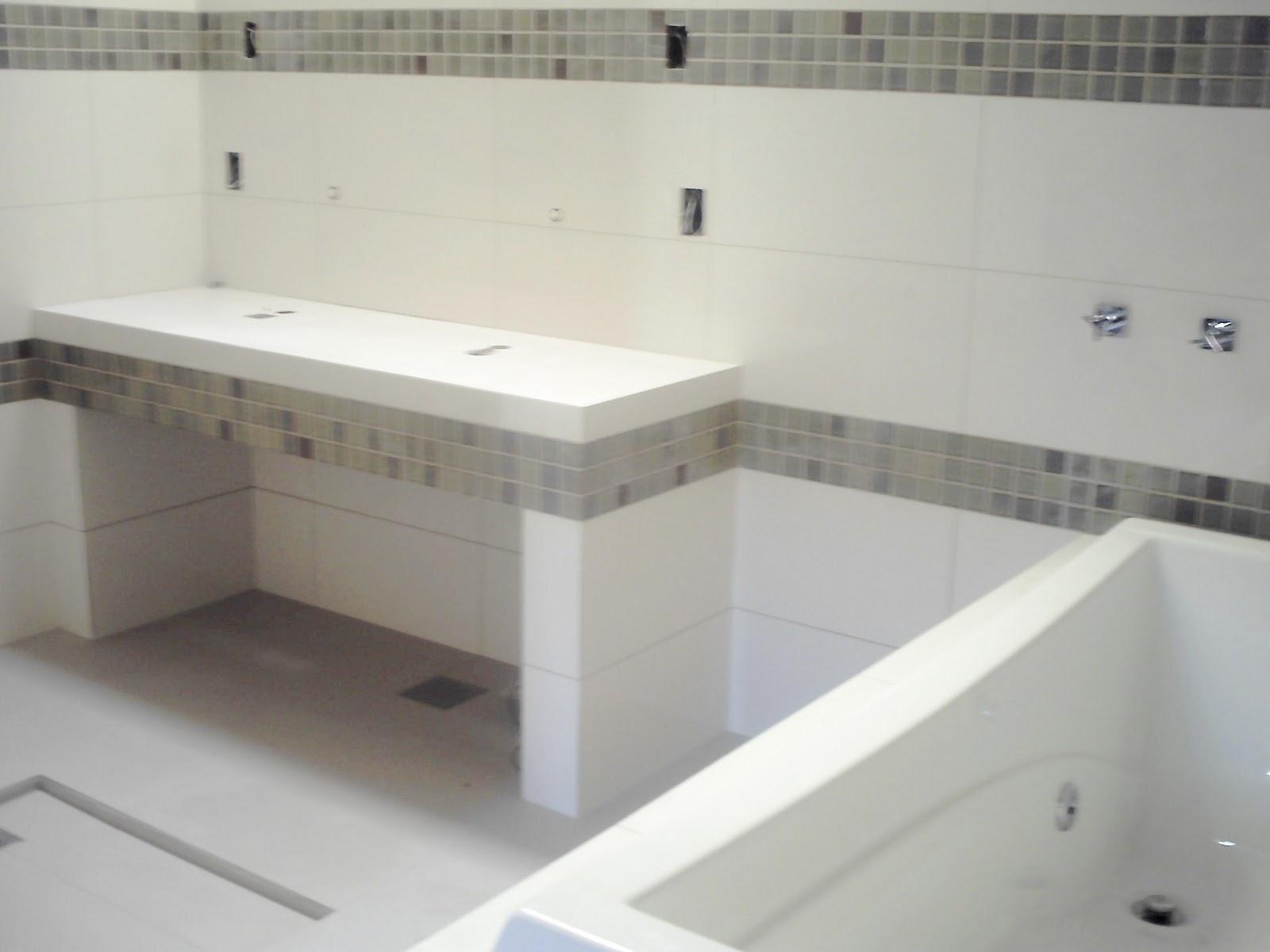 JRC Renovando : Reforma em banheiro #5B514A 1600x1200 Bancada Banheiro Concreto