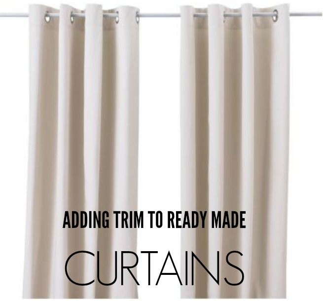 in the night sky: The DIY: Adding Trim to Curtains