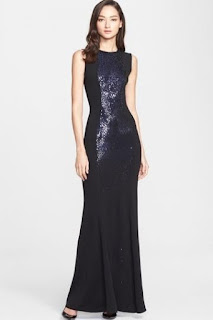 St. John Collection Embellished Milano Knit Gown