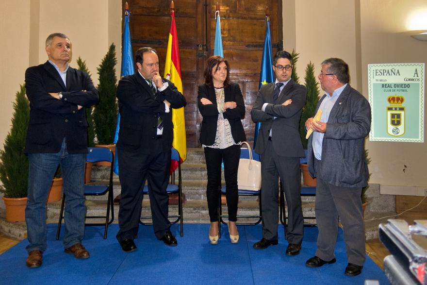 Presentación del sello del Real Oviedo