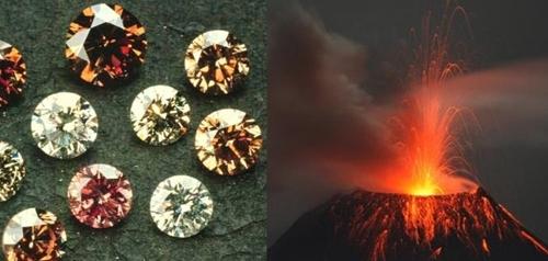 Berlian dari letusan gunung berapi