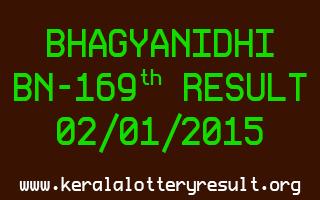 BHAGYANIDHI Lottery BN-169 Result 02-01-2015