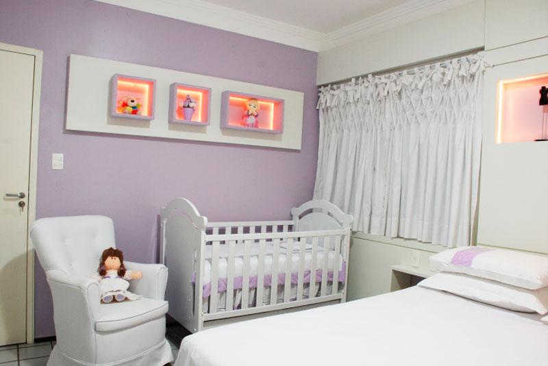 Decoração de quarto para bebê menina cor lilás