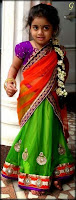 Babies Pictures With Green Saree Baby Images