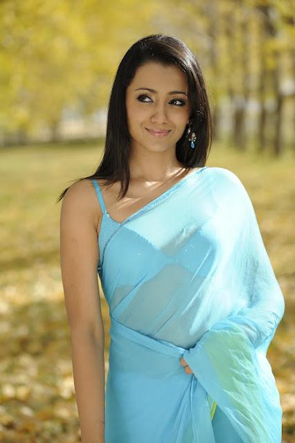 Trisha in Blue And Black Dress Pics