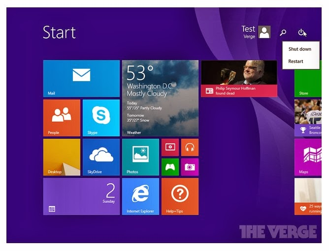 Windows 8.1 Update 1 vaza na internet