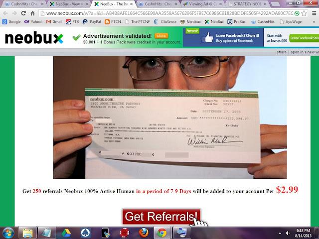 Neobux Referral Scam