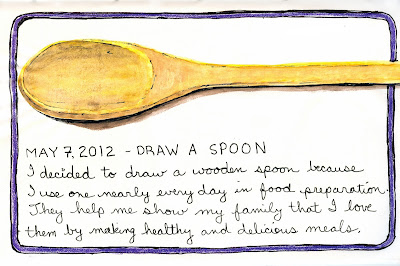 Spoon drawing by ©Ana Tirolese