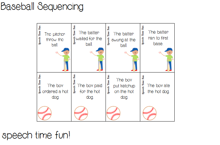 2 Baseball Themed Activities (PLUS A FREEBIE!!)): Sequencing ...