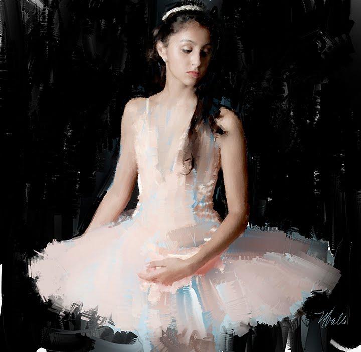 The Ballerina painting 1