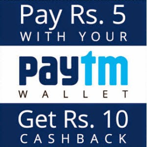 Paytm balance of Rs.10 for Rs.5 at Naaptol : BuyToEarn