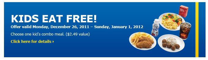 Kids Eat Free Friday Near Me