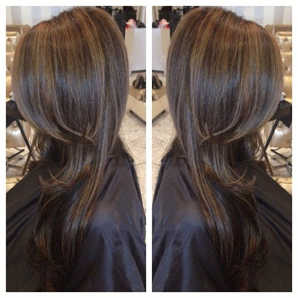 Dark Brown Hair with Caramel Highlights | Hair Fashion Online