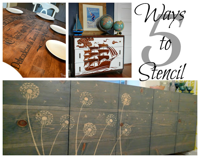 stencil dresser, DIY stencil wood, Stencil furniture, Stencil tutorial,