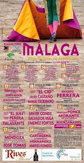Málaga - Feria 2014 - Cartel Taurino