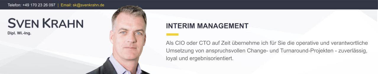 Sven Krahn Interim Management