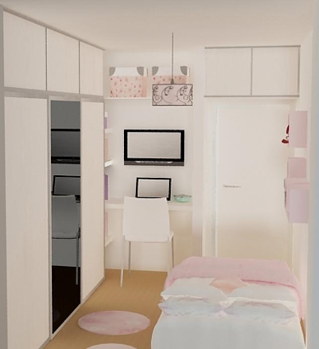 Baño Para Dormitorio:Proyectistas C y V: Diseño Dormitorio Juvenil – Vestidor Opcion 1