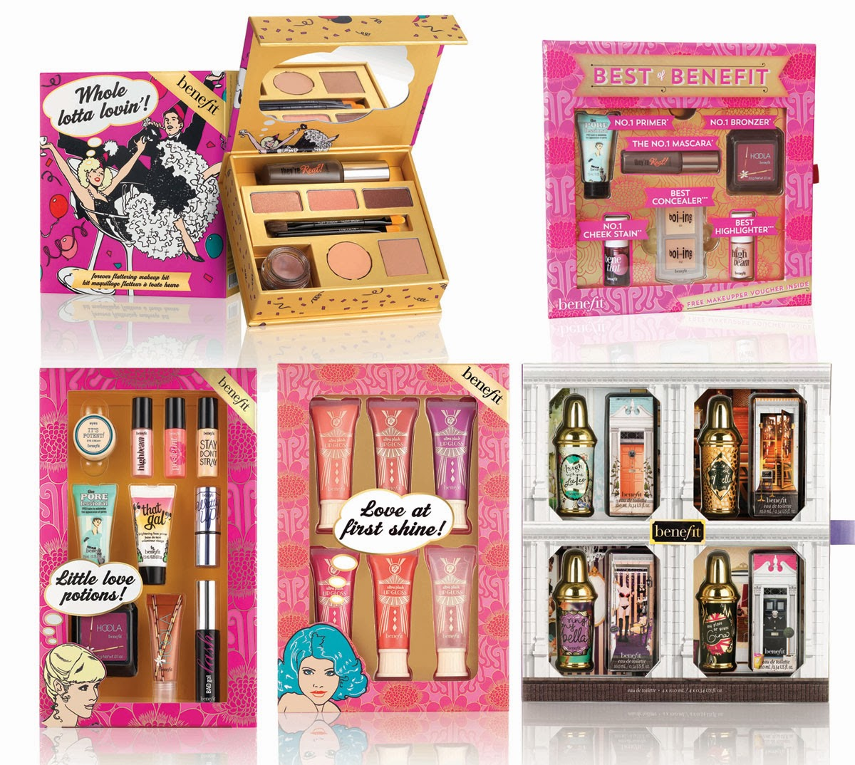 Christmas gift sets by benefit cosmetics sweet elyse