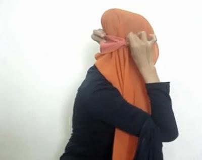 Tutorial hijab Untuk Wanita Hanya Dengan Seutas Tali Part 4
