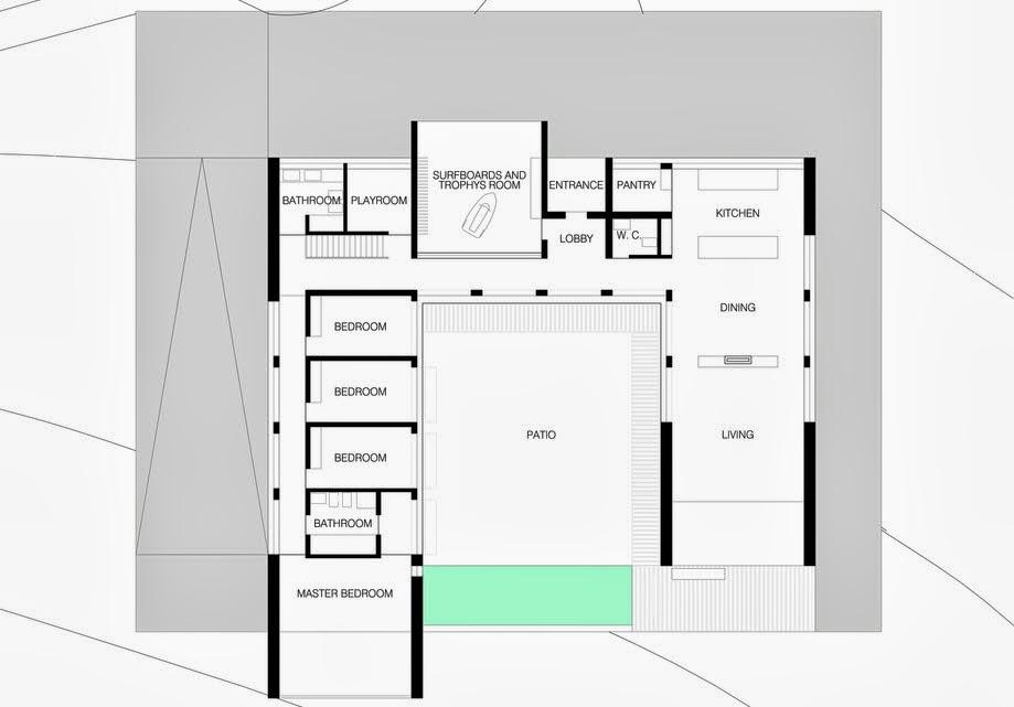 Dise o de casa moderna en forma de u frente al mar - Fotos de casas en forma de l ...