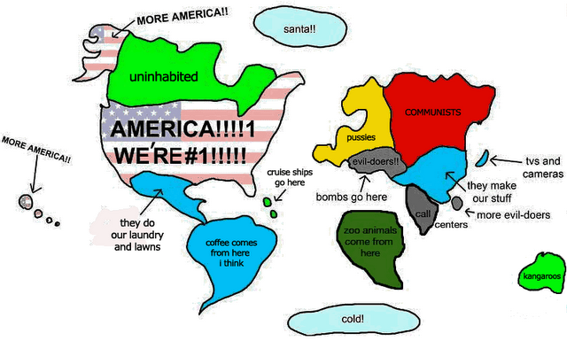 funny, picture, world, americans, usa, according to, cool