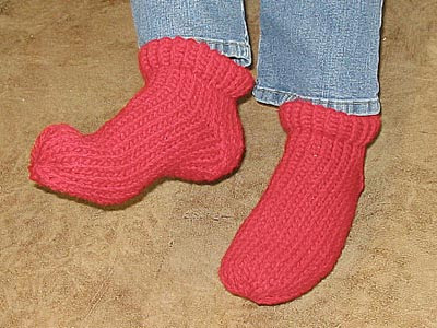 Knifty Knitter Slipper Socks