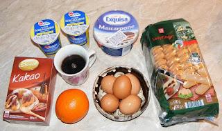 ingrediente necesare pentru a prepara o prajitura tiramisu de casa sau un tort tiramisu cu portocale retete culinare de patiserie si cofetarie,