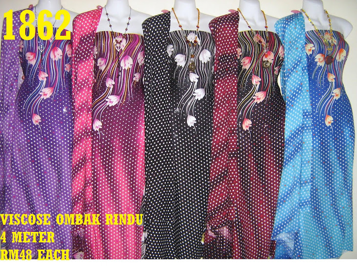 VOR 1862: VISCOSE OMBAK RINDU, 4 METER, 5 COLORS