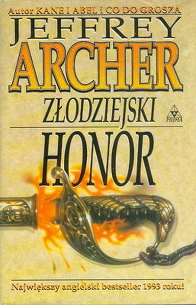 Znalezione obrazy dla zapytania Jeffrey Archer Złodziejski honor