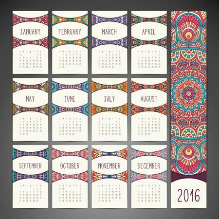 Stock Vector Calendar 2016 02