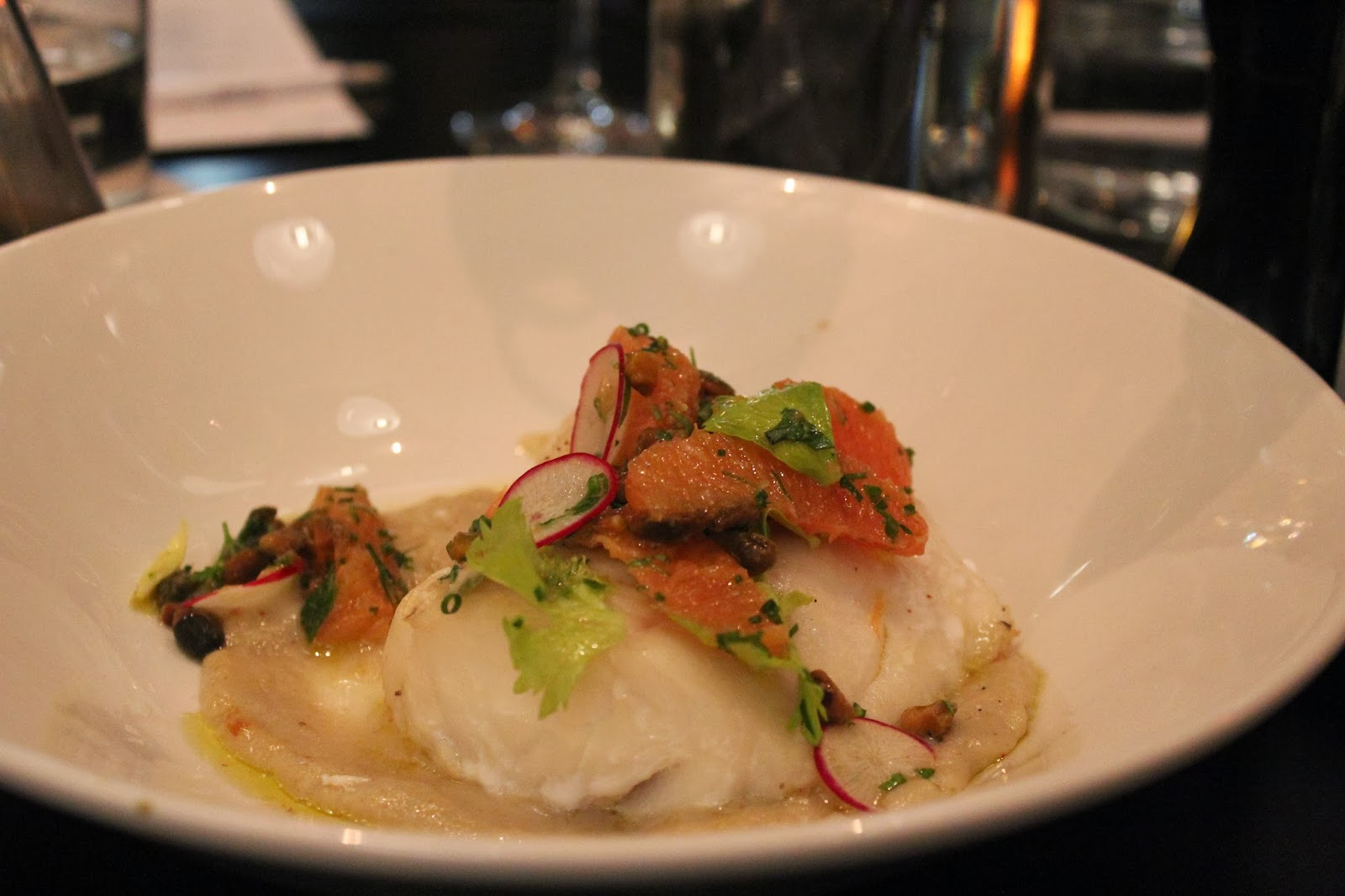 Pan-roasted tilefish at Row 34