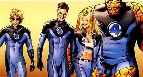 The fantastic four containment suits instead of hero costumes