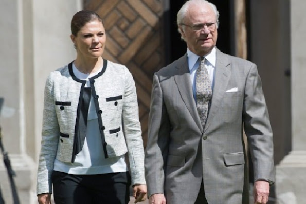 King Carl Gustaf and Crown Princess Victoria of Sweden attended the Wild Life Fund (WWF) annual meeting held at the Ulriksdal in Stockholm