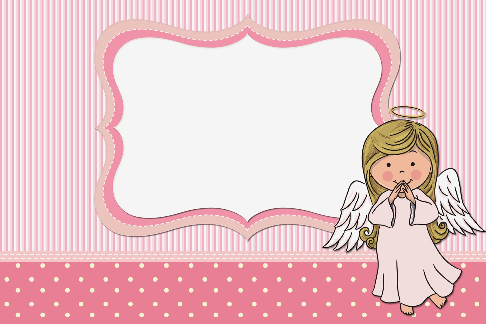 Angel Girl: Free Printable Invitations, Cards and Photo Frames. | Oh ...