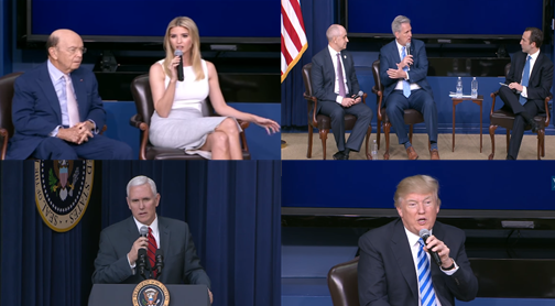 Video: President Trump, Ivanka Trump and VP Mike Pence Business Climate