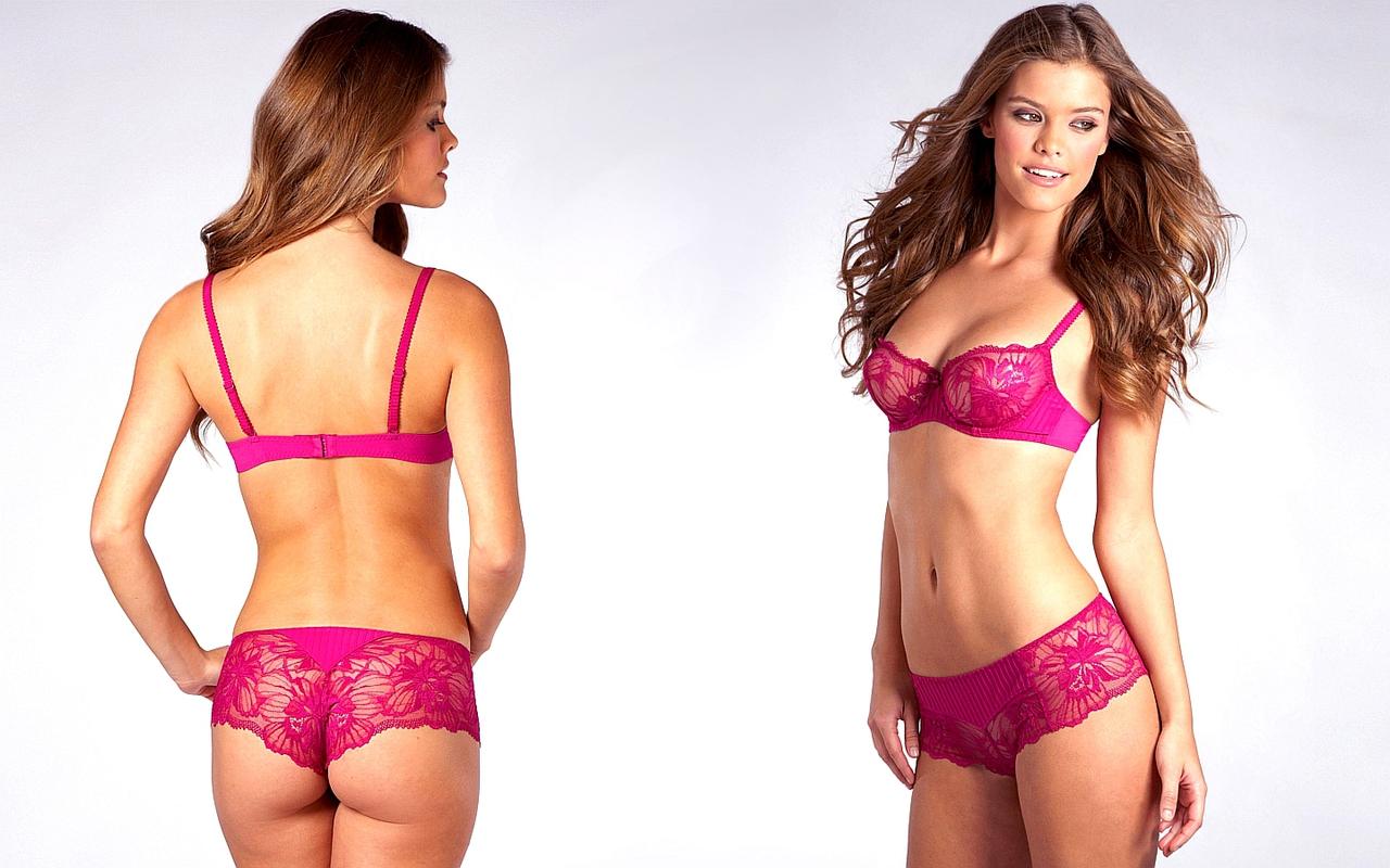 Pink Brooke bikini hogan thong