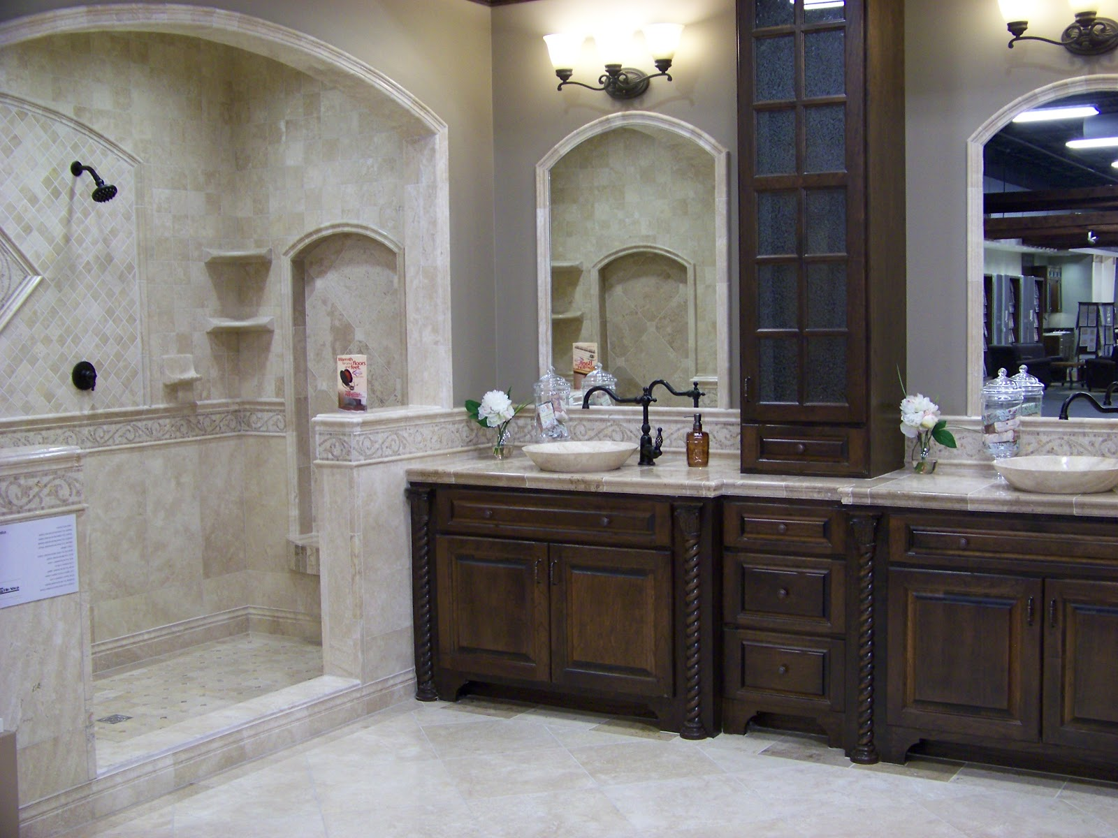 Home decor budgetista bathroom inspiration the tile shop for Master bath tile designs