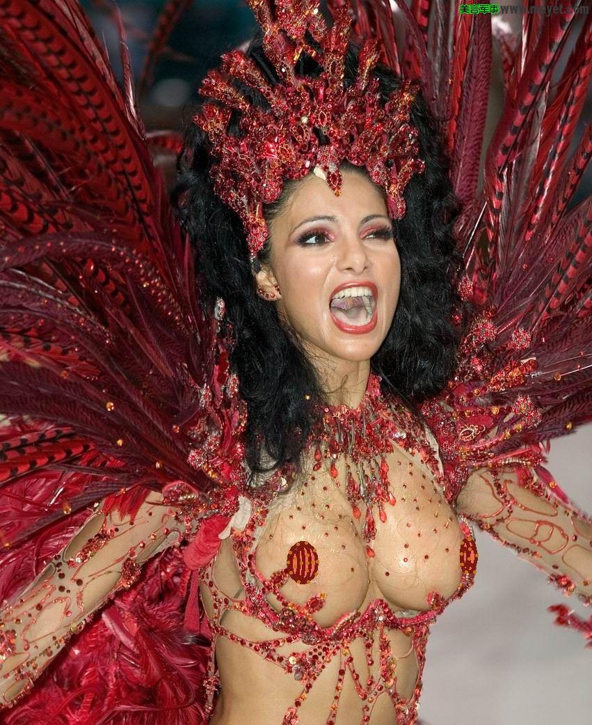 Rio Carnival, Model Fabia Borges.