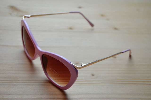 retro pink sunglasses image