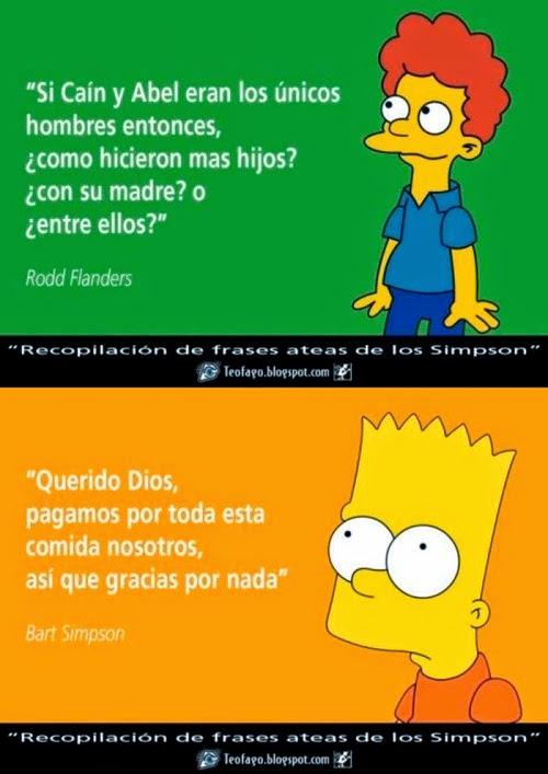 frases ateas de Los Simpson - Rodd y Bart
