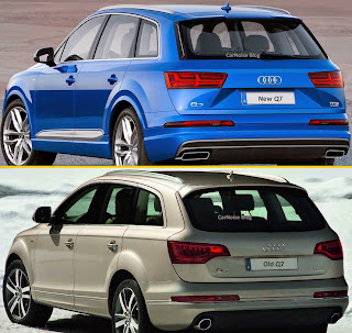 Exterior Rear View: 2015-2016 Audi 1st gen Q7 vs 2nd gen Q7