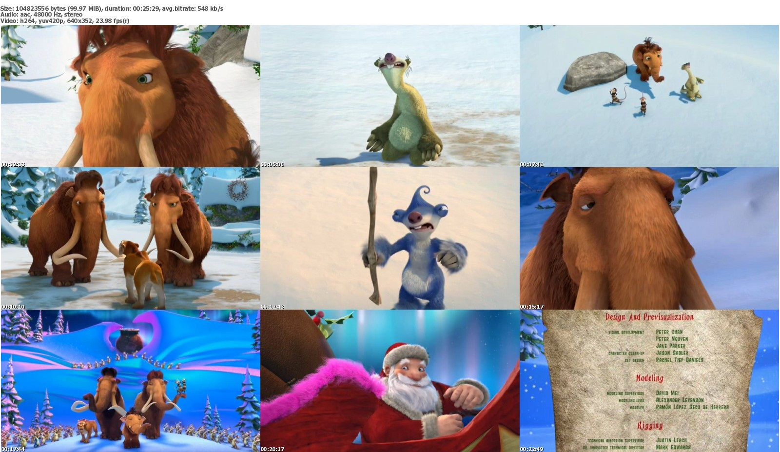 Ice Age A Mammoth Christmas (Movie 2011) DVDRip (100MB