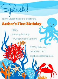 Printable Under the Sea Party Birthday Invitation
