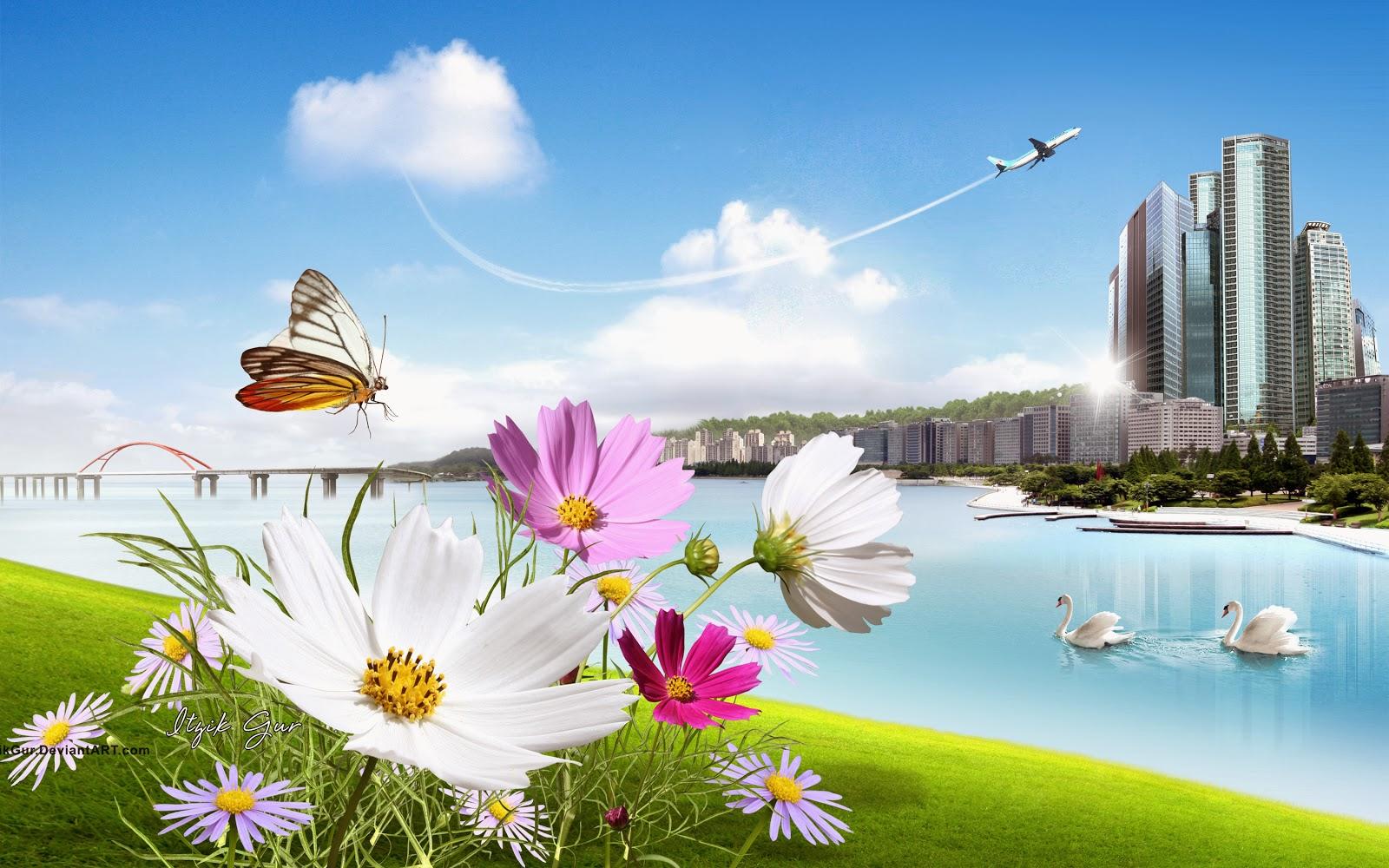 Urban Scenery Psd File - Luckystudio4u